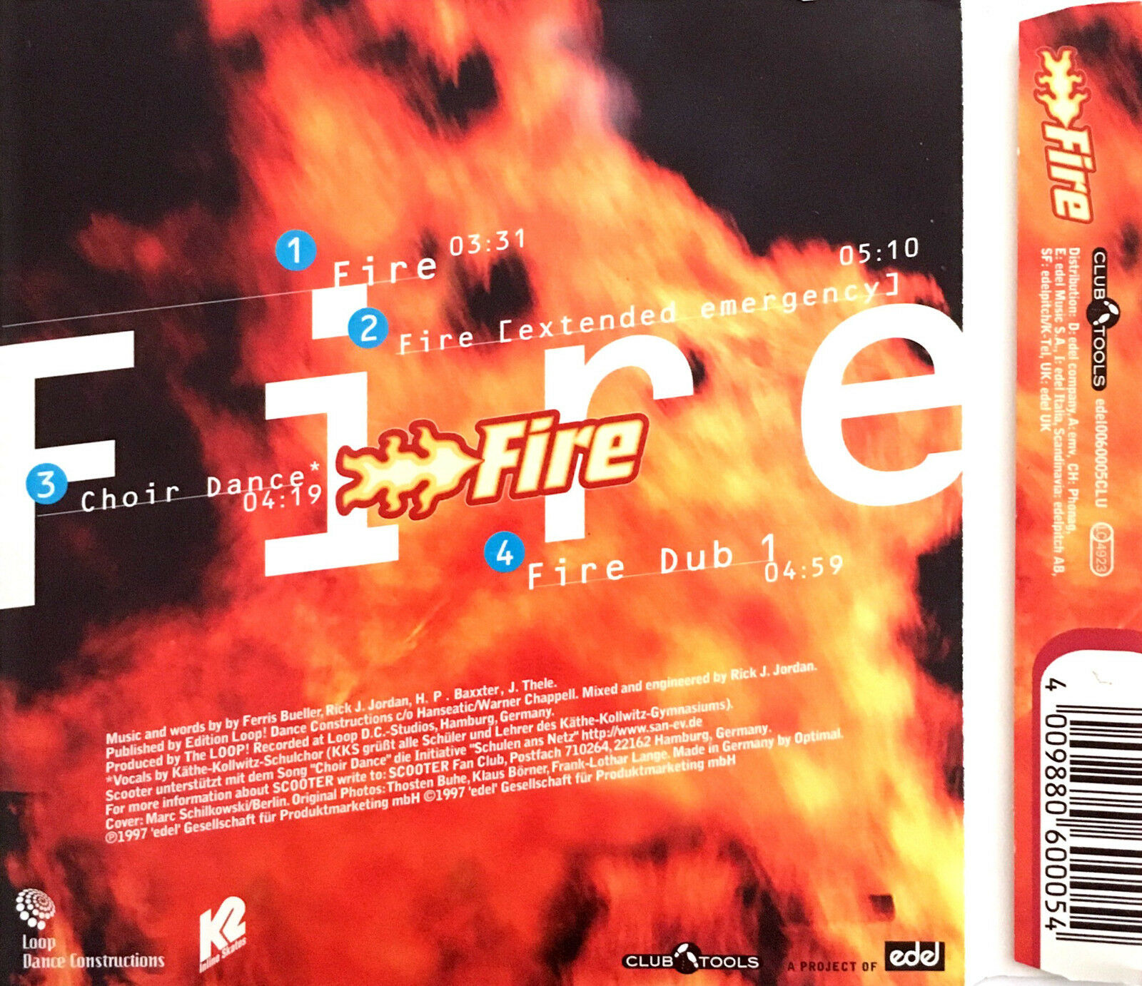 Scooter ‎maxi cd fire - europe (ex/ex+)