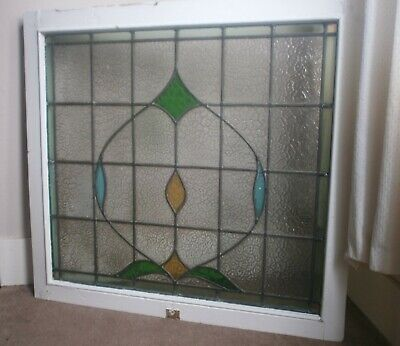 Antique stained glass 95 x 87cm