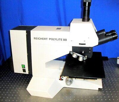 Leica Reichert Polylite88 Nomarski Dic Metallurgical Semicon Bfdf Microscope