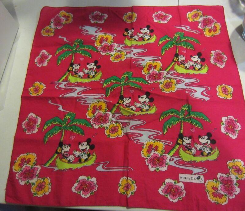 "Vintage Mickey & Co Bandanna mickey and minnie mouse "" Hawaii """