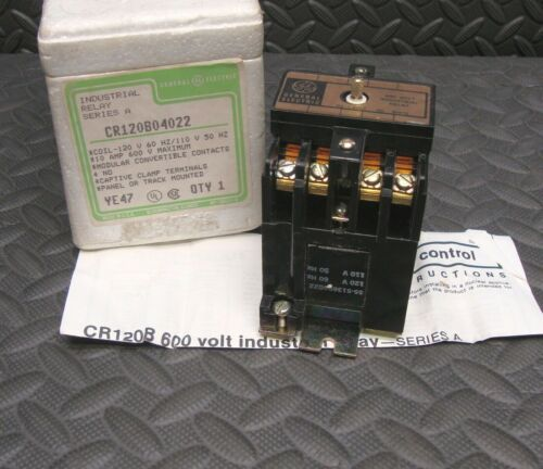 NEW General Electric GE CR120B04022 Industrial Relay 120 Volt Coil