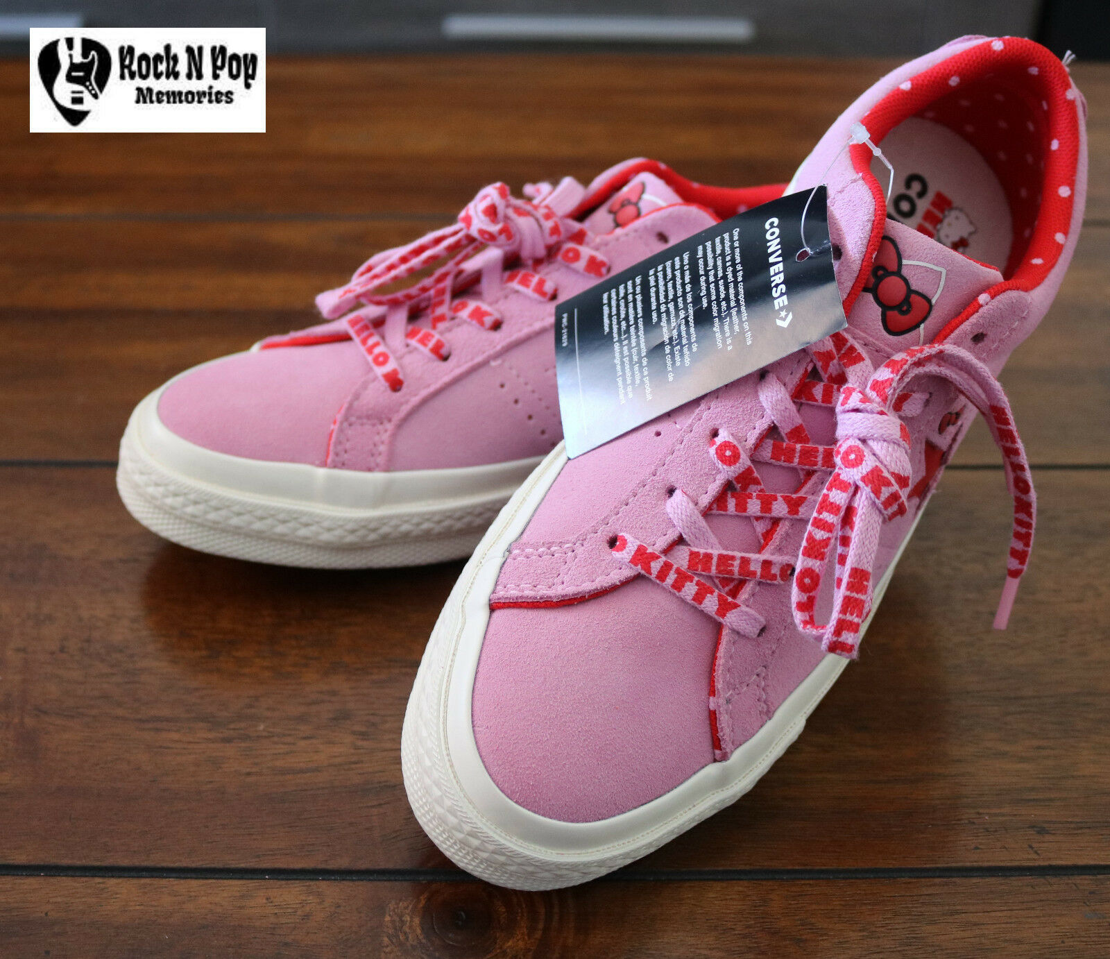 Details about Womens Converse One Star Ox Hello Kitty PinkEgret Suede NWT 162939C Various Szs