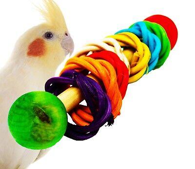1406 Vine dumbell Rattle Foot Talon Toy Parrot Birds Toys Craft Part rabbit