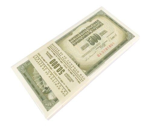 YUGOSLAVIA 500 DINARA 1981 P 91 UNC BUNDLE OF (100 PCS)