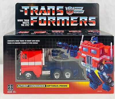Transformers G1 Reissue Optimus Prime Action Figure New In Sealed Box