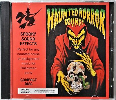 Scary Halloween Sounds & Spooky Sound Effects (CD Haunted Horror Sounds Halloween House Spooky Scary Sound Effects CLEAN)