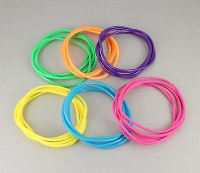 Multi Color set pack 30 jelly rubber gummy bangle bracelet 80s style - 80s Jelly Bracelets