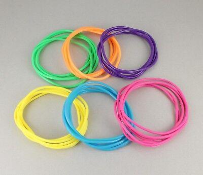 Multi Color set pack 30 jelly rubber gummy bangle bracelet 80s style costume](80s Jelly Bracelets)