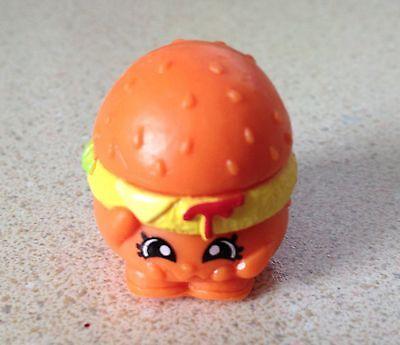 NEW Shopkins Season 1 Moose Toys Rare #1-099 Orange Cheezey B Burger (Elk Burgers)