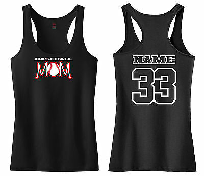 Baseball Softball Tank Top - BASEBALL MOM RACERBACK TANK TOP SHIRT LITTLE LEAGUE PEE WEE SOFTBALL T-BALL
