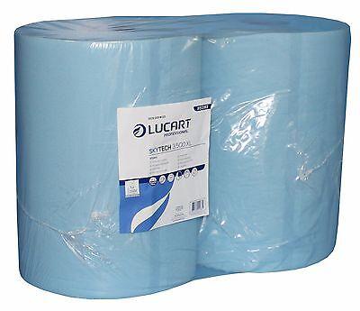 Putzrolle Industrierolle blau 36x36cm 3-lagig 2 Rollen á 500 Blatt