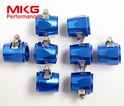 AN10-10AN JIC-10 Fuel Hose Line Clamp Finisher Adapter HEX HEX-10 8PCS BL