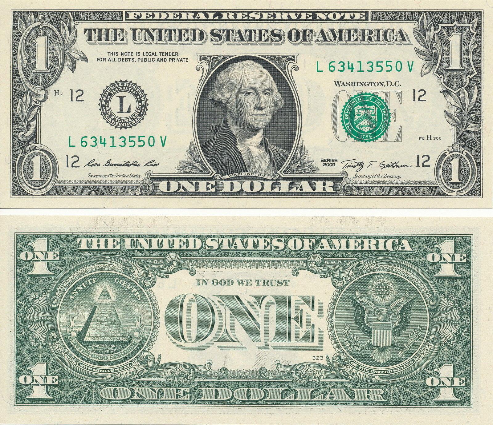 USD 1 Dollar Schein aus 2013 neu und unzirkuliert -1-