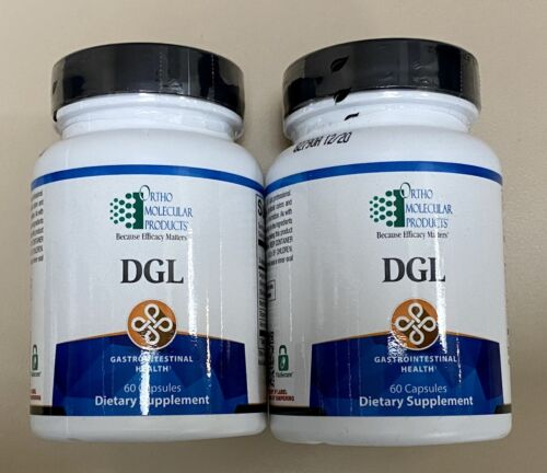 Lot Of 2 Ortho Molecular DGL 60 Capsules (120 Total) Exp. 12/20 FAST SHIP!