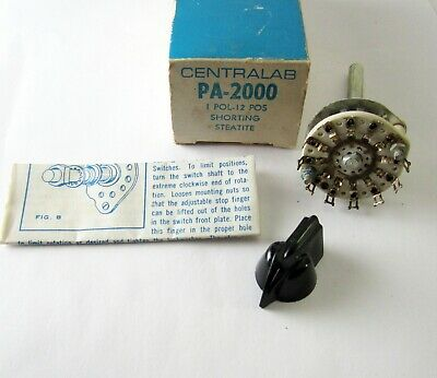 Ceramic Rotary Switch 1 Pole - 12 Positions Shorting Steatite 1 Pcs. Nos