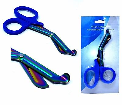 Blue Heavy Duty Military Style Trauma Emtparamedic Shears Multi Rainbow Color