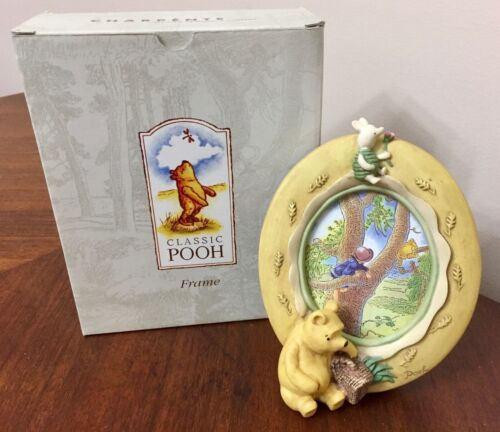 Classic Pooh w/ Basket & Piglet Oval Picture Frame Charpente Michel & Co Disney