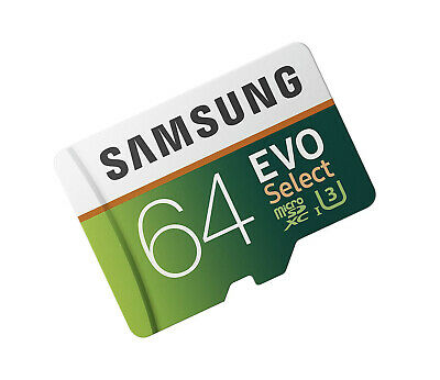 Samsung 64GB Micro EVO select V20 SD card for Akaso V50 Pro elite EK7000 Brave 4 ()