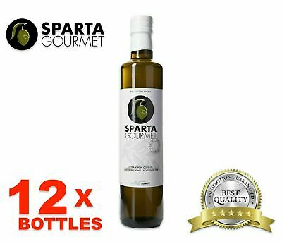12x Best Olive Oil Extra Virgin - Greece Imported - Sparta Gourmet -16.9oz