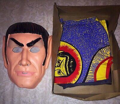 Vintage 1975 Star Trek Mr. Spock Ben Cooper Halloween Costume EXC w/ Partial Box