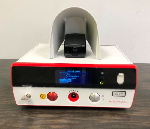 Angiodynamics Delta 15 Diode Laser with key and Foot Pedal / Footswitch