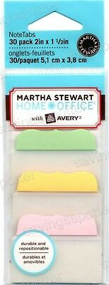 Martha Stewart Avery Notetabs 2 Wide Note Tabs Pastel 30pk Free Sticky Notes