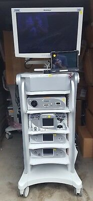 Arthrex Arthroscope Tower Complete Arthroscopy Tower With Camera Heads Cart Used