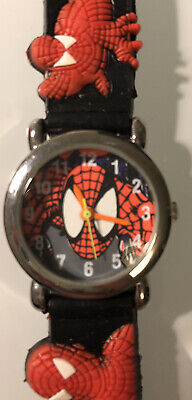 Spiderman Kids Blue Red Watch Needs Battery New