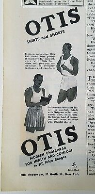 1940 Otis men's shirts and underwear shorts vintage fashion ad