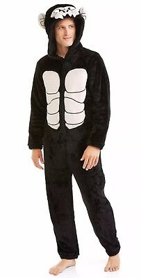Mens Sz L 42-44 Gorilla Ape Dress Up Costume Sleepwear Pajamas Union Suit 1pc.](Ape Costume)