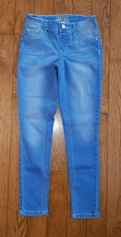 JUSTICE Girls Jeans 12 Slim Blue Mid Rise Jeggings Jeans