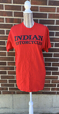 (2-Sided) Vintage 90s INDIAN MOTORCYCLES T-Shirt Red Size MED