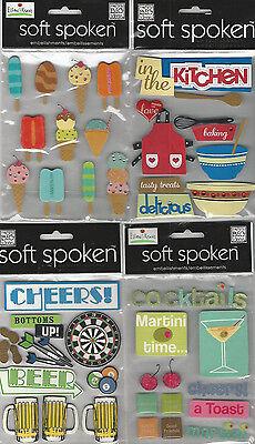 U CHOOSE  Assorted Soft Spoken FOOD 3D Stickers beer kitchen cocktails popsicles