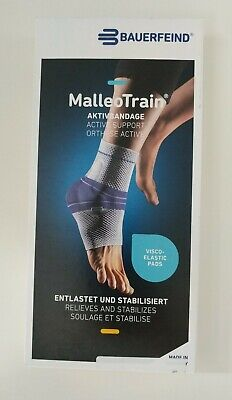 Bauerfeind MalleoTrain Active Ankle Support Brace, NATURAL Color, Left, Size 2