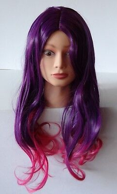 Costume Cosplay Wig Long Wavy Bright Purple Pink Fashion Hair Anime Party Wigs (Bright Pink Wig)