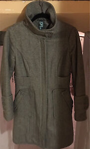 Warm Long Structured Winter Jacket - Size S