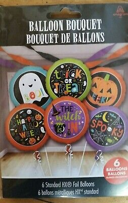 Anagram Halloween Balloons (ANAGRAM HALLOWEEN 6 MYLAR BALLOON BOUQUET)