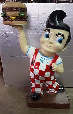 Aluminum Bob's Big Boy Man Cave Statue Advertising Sign Garage Gas Oil Hot Rod