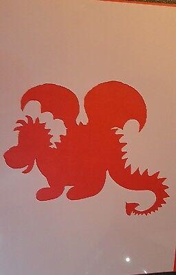 1669 Schablonen Dinosaurier Vintage Stanzschablone Shabby Stencil Wandtattoos Dinosaurier Schablonen