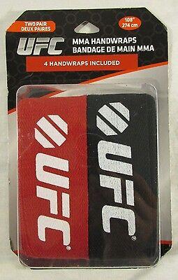 "UFC MMA 4 Hand Wraps 2 Pair Century Handwraps 108"" Long Raps Auth Wrist Training"