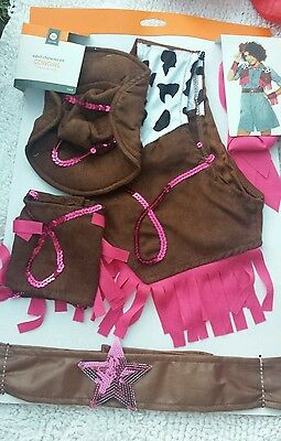 ADULT HALLOWEEN COSTUME CHARACTER KIT COWGIRL ONE SIZE FITS MOST MINI HAT SCARF - Cowgirl Halloween Costume