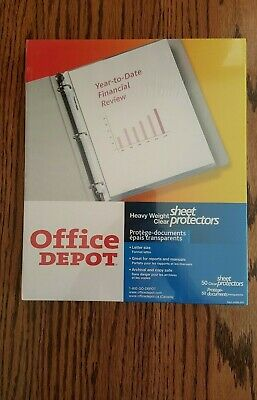 Office Depot - Heavy Weight Sheet Protectors - 50 Count - Brand New