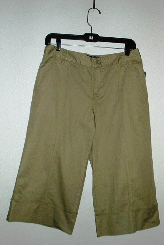 ALLISON BRITTNEY CAPRIS~Moss Green~Flat Front~Miss Size 6~NWT~FREE SHIP