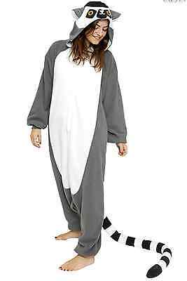 Ring Tailed Lemur Kigurumi Anime Unisex Cosplay Pyjamas Costume Onesie16 UK - Ring Tailed Lemur Kostüm