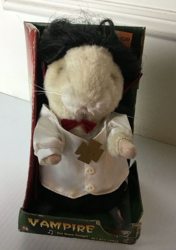 "Gemmy Dancing Hamster Vampire 2005 Sings ""Get Down Tonight"" In Box Halloween Fun"