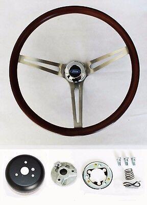"75-77 Bronco 70-77 F100 F150 F250 F350 Wood Steering Wheel Low Gloss Finish 15"", usado comprar usado  Enviando para Brazil"