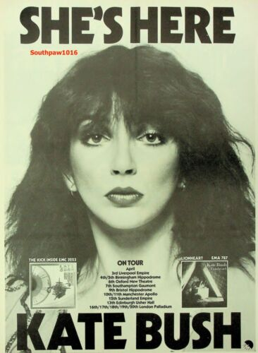 1978  Kate Bush  UK Tour Music Industry Promo Ad Print