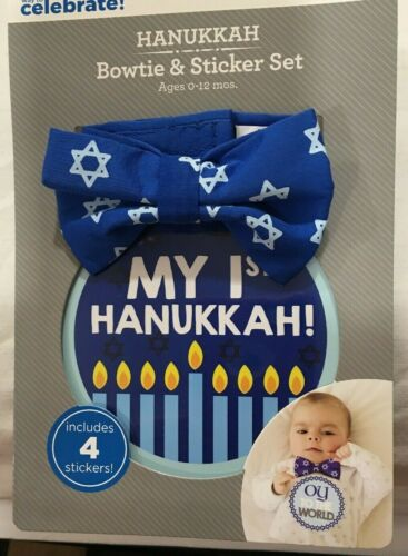 Baby Boy My First Hanukkah Bowtie & Sticker Set