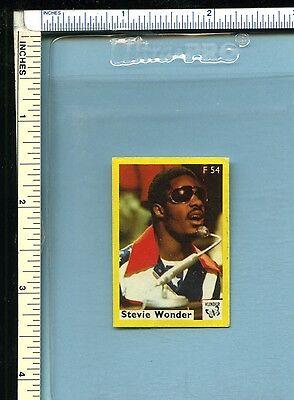 STEVIE WONDER Vintage Early 1970s Dutch Vlinder Matchbook Label; Pop/Music Stars