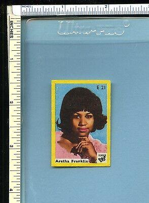 ARETHA FRANKLIN Vintage Early 1970s Dutch Vlinder Matchbook Label; Soul R&B Pop